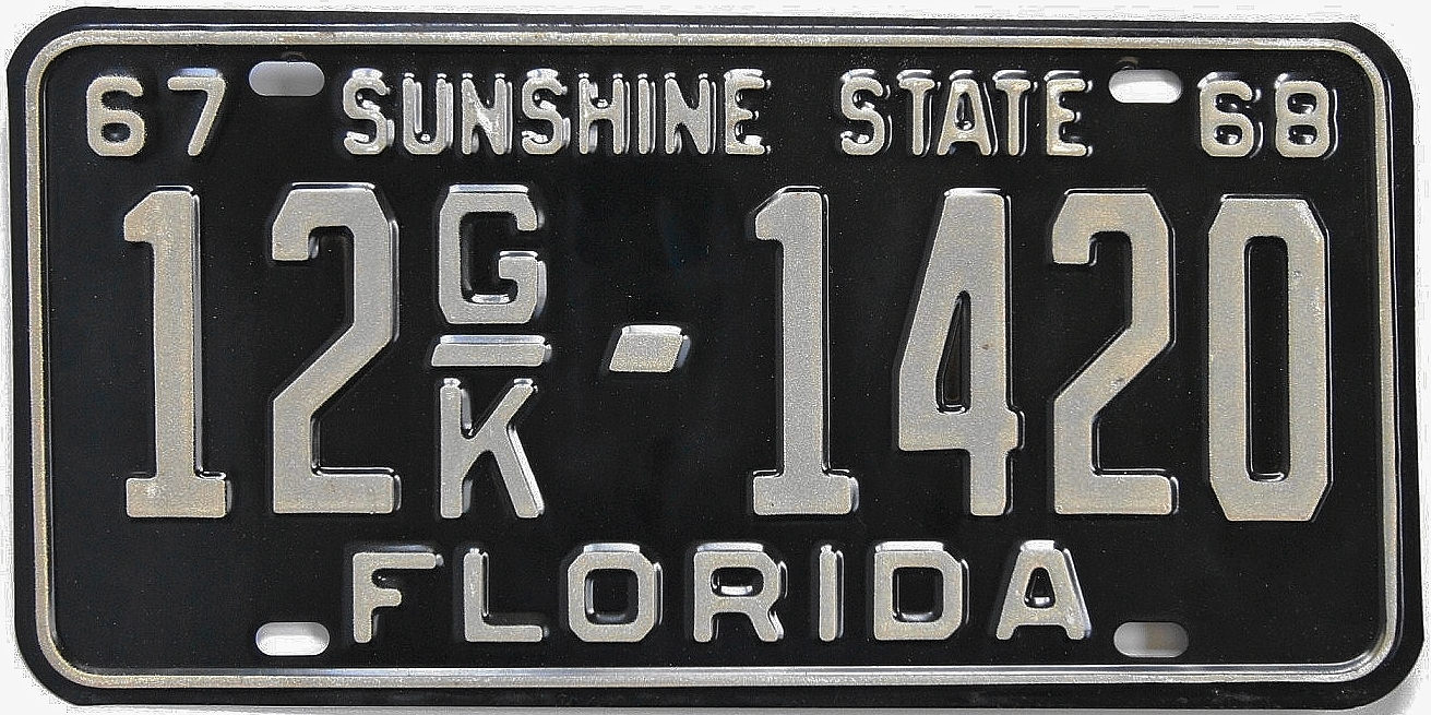 Florida Vintage Plates & In 1976 Florida Issued The Above Tab To Go