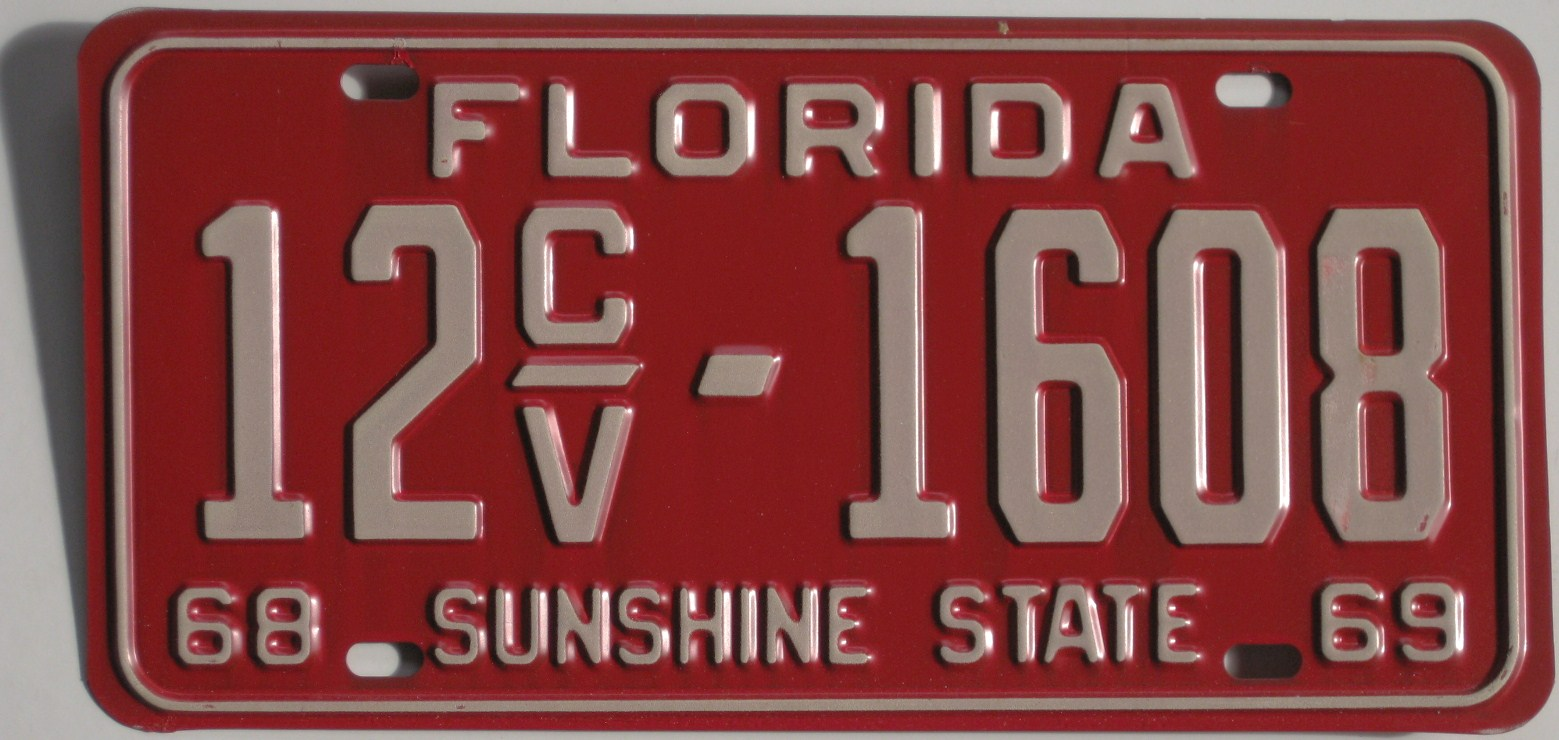 Old Florida License Plates For Sale - ClassicLicensePlates.biz ...
