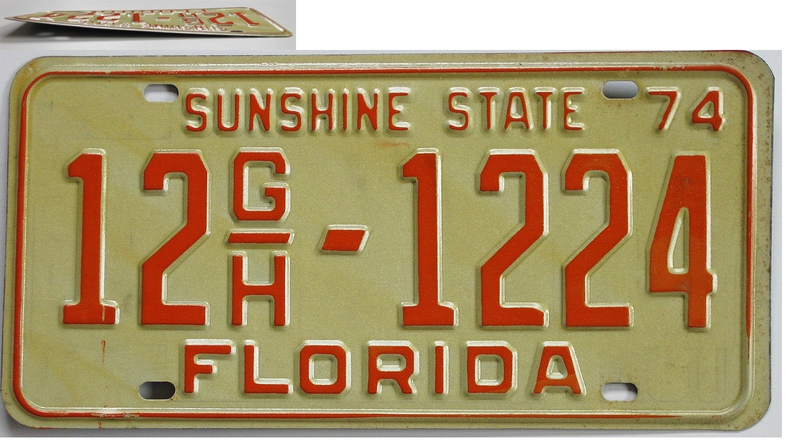 Old Florida license plate