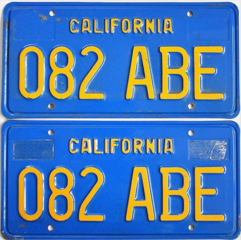 Old California License Plates For Sale - ClassicLicensePlates.biz ...