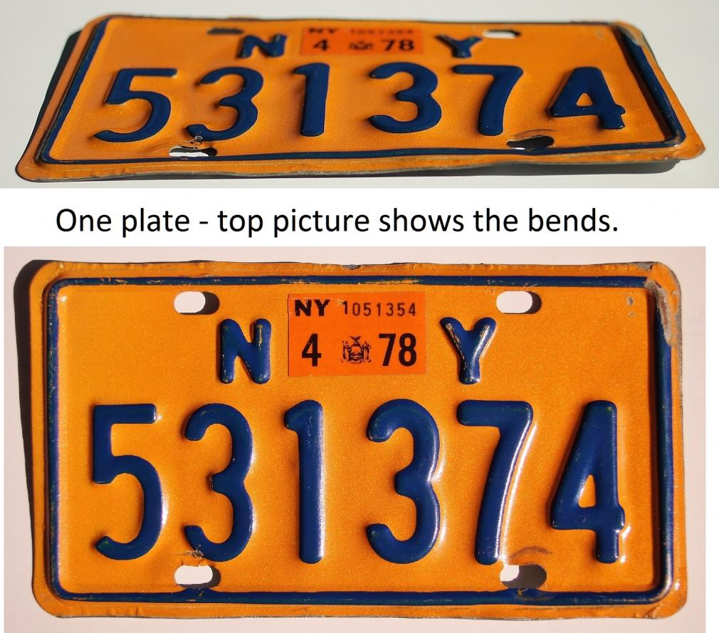 1978 New York motorcycle license plate