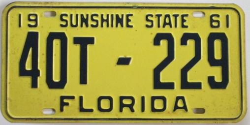old florida license plate for sale