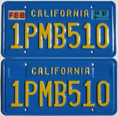 Old California license plates
