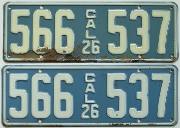 california license plates 1926