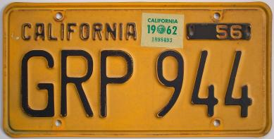 old california license plate
