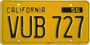 vintage california license plate 1963
