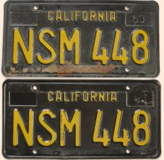 Vintage california license plates 