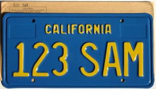 california sample license plate